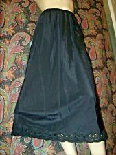 Vintage Lady Lynne Black Swishy Taffeta A-line Half Slip Lingerie M