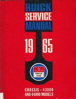 1965 Buick Service Manual Chassis 43000 and 44000 Models