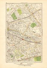 1923 LONDON STREET MAP - WEST KILBURN,NOTTING HILL, BAYSWATER,NTH KENSINGTON