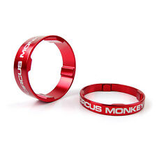 """Circus Monkey Alloy Bike Cycling 1-1/8"""" Stem Headset Spacer 5mm + 10mm - Red"""