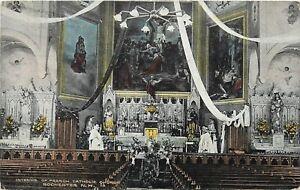 French Catholic Church Rochester New Hampshire NH or NY New York error? Postcard