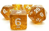 RPG Set 7-teilig Würfel DND Poly Tabletop Gold Rollenspiel dice4friends w4-w20