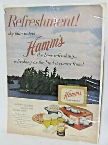1953 Hamm's Brewing Company, Beer, Holiday, Life Magazine Full Page Ad Vintage