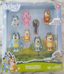 """Blueys Family and Friends 2.5"""" Figures - 8 Pack Brand New in Box"""