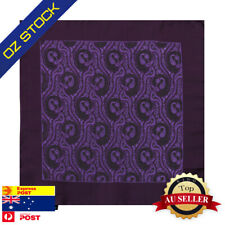 Purple Mens Party Pocket Square Set Black Pattern Working Hanky Epoint EEHB0348
