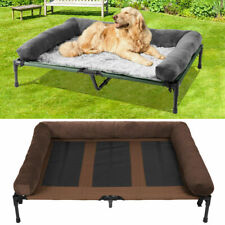 Indoor Outdoor Dog Bed Elevated Raised Pet Cot w Removable Pillows &Metal Frame