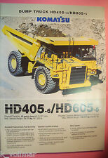 ✪ viejo folleto original/sale brochure Komatsu Dump Truck hd405-6/hd605-5