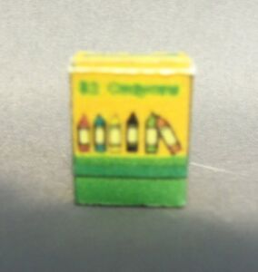 Dollhouse Miniature 1:12 Scale Small Box of Crayons