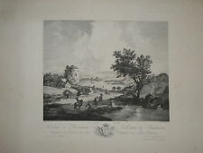 Philips WOUWERMAN (1619-1668) GRANDE GRAVURE XVIII° PAYSAGE CAMPAGNE J.P LE BAS