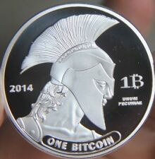 2014 year Silver Plated Bitcoin BTC 1 Physical Bit Coin souvenir Medal