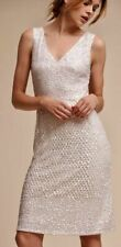 Adrianna Papell Off White Latisse Allover Sequins Bridal Rehearsal Dress Size 4
