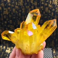 Natural Yellow Crystal Quartz Citrine Cluster Mineral Specimen Healing Stone