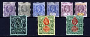 SIERRA LEONE King George V 1921-27 Die II Part Set to 10/- SG 132a - SG 146 MINT