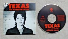 "CD AUDIO MUSIQUE / TEXAS ""SO IN LOVE WITH YOU"" CDS 2T POP ROCK 1994"