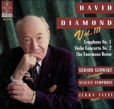 David Diamond Symphony No. 1 Violin Concerto No. 2 The Enormous Room Gerard Schw