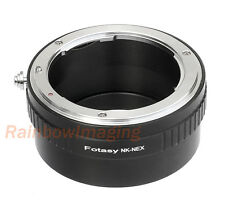 Nikon F Mount Lens to Sony E-Mount NEX Adapter NEX-F3 a6000 a5000 a3500 a6300