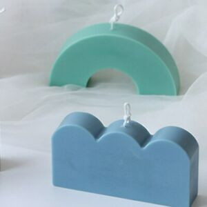 Silicone Aromatherapy Geometrical Shape Candle Mould Plaster Soap DIY Mold