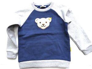 19/20-Steiff blue winter Sweatshirt mit Quietsch,blau-grau 1122  gr.98-110
