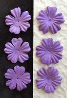 "20 Purple Handmade Mulberry Paper Flowers petals wedding Violet embellishment 1"""