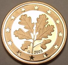 Cameo Proof Germany 2003-G 5 Euro Cents~Karlsruhe Mint~Cameo~Free Ship~