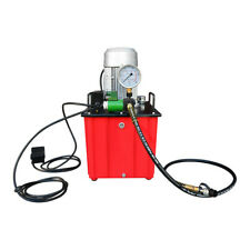 10000 Psi Electric Hydraulic Pump Single Acting Solenoid Valve Foot Operated