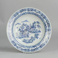 18C Chinese Porcelain Plate Church on Island Landscape Antique