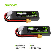 2X 50C 11.1V 2200mAh 3S LiPo Battery With XT60 for RC Evader BX Car Airplane FPV