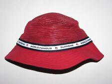 SUPREME Mesh Crown Crusher RED Bucket Hat Cap Small / Medium NEW! S/S 2017