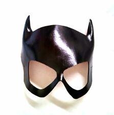 Genuine Leather Handmade Batgirl Black Cosplay Con Mask Barbara Gordon 1960's