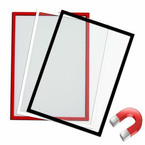Magnetic document display pocket A4 cover safety notice holder poster