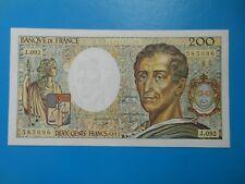 200 francs Montesquieu 1991 F70/11 SUP+