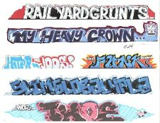 G SCALE GRAFFITI DECALS G24 FROM REAL GRAFFITI PHOTOS