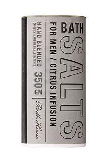 Bath House - Men's Citrus Collection - Hand Blended Bath Salts w/Citrus 350g