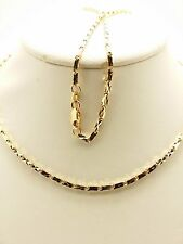 18k Solid Rose Gold Italian Diamond Cut Nugget Necklace/ Chain 7.60 Grams