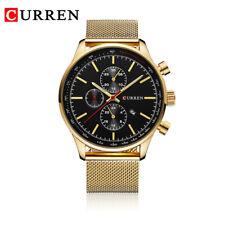CURREN New Luxury Watch Men Watches Gold/Silver Steel Quartz Calendar Wristwatch