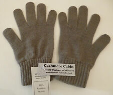 Grey green 100% cashmere wool gloves ladies womens NEW by made in Scotland