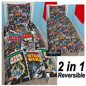 STAR WARS COMICS ISSUE SINGLE DUVET COVER SET - CHILDRENS BEDDING OFFICIAL NEW