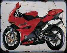 BENELLI Tornado Tre RS 04 3 A4 Metal Sign moto antigua añejada De