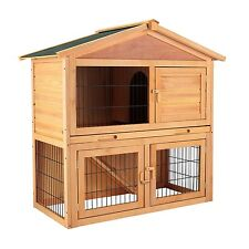 """40"""" Wooden Cage Chicken Coop Rabbit Hutch Hen House Poultry Cage Pet Animal Run"""