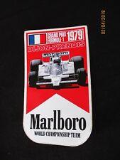 autocollant sticker adesivo GRAND PRIX FRANCE F1 1979 DIJON-PRENOIS FORMULE 1