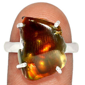 Mexican Fire Agate 925 Sterling Silver Ring Jewelry s.9 BR80562