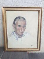 Portrait d'homme, huile sur toile signée