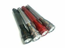 (4) Maglite Mini Maglite AA Xenon Bulb Flashlight (Grey, Silver, Red, Black)