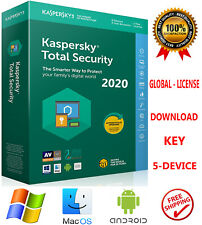 Kaspersky TOTAL Security 2020  / 5 Device / 1 Year / WORLDWIDE - LICENSE 19.84$