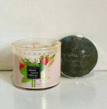 NEW! BATH & BODY WORKS 3-WICK SCENTED CANDLE - STRAWBERRY MIMOSA - SALE