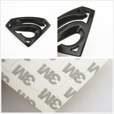 100% Metal Black Superman 3D Logo Emblem Automobile Window Fender Decor Sticker