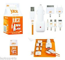 Genuine Juice Multi Tip In-car Charger USB To Universal With 1.5m Cable Orange
