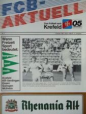 Program 1986/87 Bayer 05 Uerdingen - Hamburger Sv