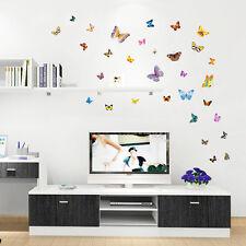 Colorful 88 transperent butterfly wall stickers mural art décoration d'intérieur uk