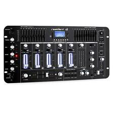 Mixer DJ Audio Consolle 4 Canali Bluetooth XLR  Jack RCA USB SD Equalizzatore